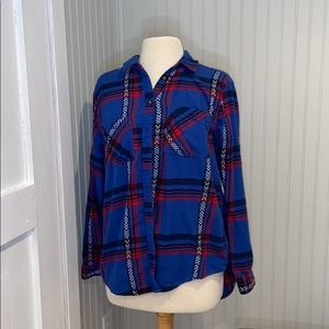 BDG UO Blue and Red Flannel